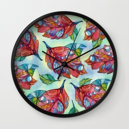 Colorful autumn leaves Wall Clock