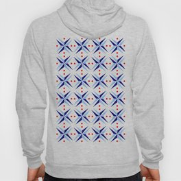 symmetric patterns 97- blue and red Hoody