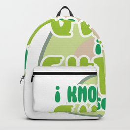 Guacamole I Know The Guac Is Extra But So Am I Avocado Gift design Backpack