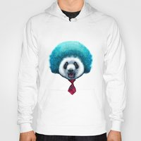 afro Hoodies featuring PANDA AFRO by ADAMLAWLESS