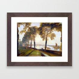 Joseph Mallord William Turner Mortlake Terrace Framed Art Print