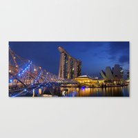 singapore Canvas Prints featuring Singapore by J. S. Wolf Photography