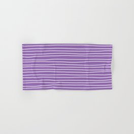 Amethyst Pinstripes Hand & Bath Towel