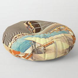 Illusionary Pool Party Floor Pillow