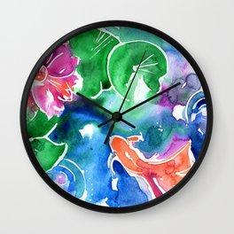 Watercolor Goldfish 2 Wall Clock