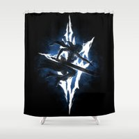 returns Shower Curtains featuring Lightning Returns by Six Eyed Monster