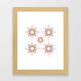 Hand drawing Modern Mandala Framed Art Print