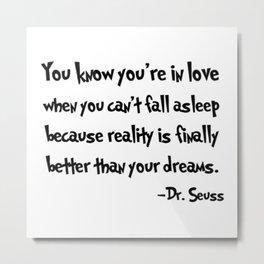 -Dr. Seuss. Metal Print