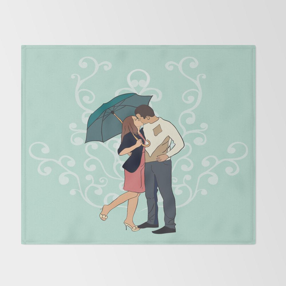 Love In The Rain Throw Blanket BLK998589
