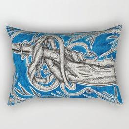 Canes and Curves Rectangular Pillow