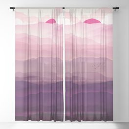 Ultra Violet Day Sheer Curtain