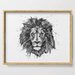 Black and White Lion Head Serving Tray
