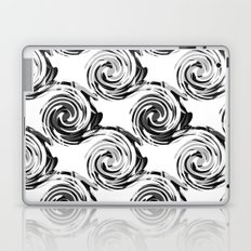 Abstract pattern in black and white tone. Laptop & iPad Skin