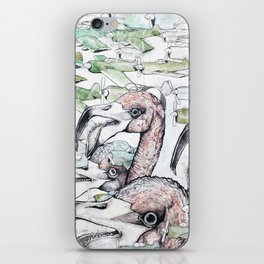 Flamingoes Bigger Than You Thought iPhone Skin