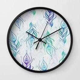 Peacock pattern Wall Clock
