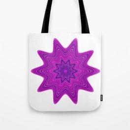 Violet abstract star Tote Bag
