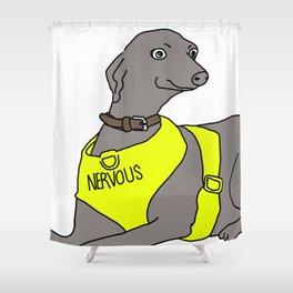 NERVOUS Shower Curtain