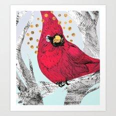 Cardinal Thoughts Art Print