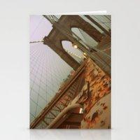 brooklyn bridge Stationery Cards featuring Brooklyn Bridge  by S|Tarah