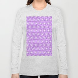 Mauve Flowers and Florals Isosceles Triangle Long Sleeve T-shirt