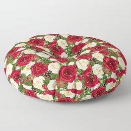 Christmas roses garden Floor Pillow