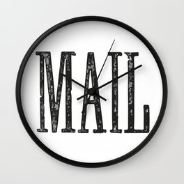 Mail Wall Clock