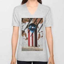 Puerto Rico Flag  pride Unisex V-Neck