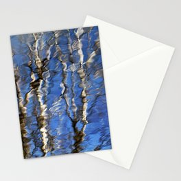 Abstract Aspen Tree Reflection Stationery Cards