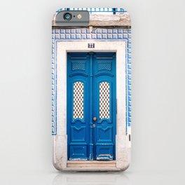 The blue door of Lisbon | Portugal fine art travel photography print iPhone Case