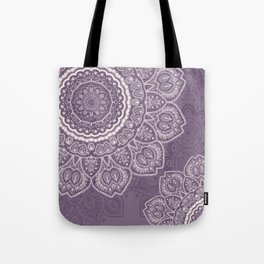 Mandala Tulips in Lavender ad Cream Tote Bag
