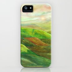 Lines in the mountains XVI iPhone SE Slim Case