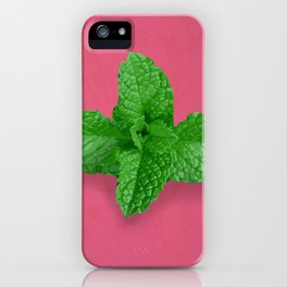 Mint on Pink iPhone Case
