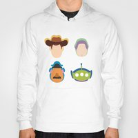 toy story Hoodies featuring Toy Story by Raquel Segal