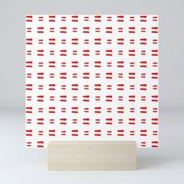 flag of austria 8 Handmade Mini Art Print