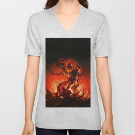 driven by the strength of the enemy Unisex V-Neck