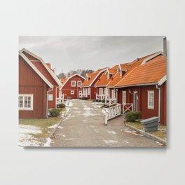 Swedish village Metal Print