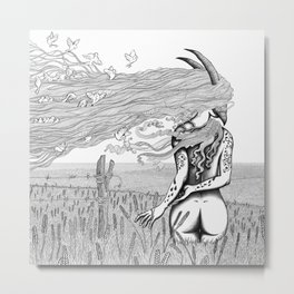 Sweet pre christian demigod (Birds catcher) Metal Print