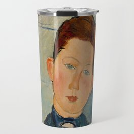 Amedeo Modigliani  Boy in a Striped Sweater Travel Mug
