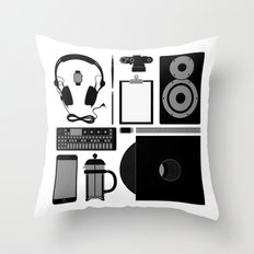 Studio Objects Vector Illustration Throw Pillow