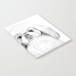 Cartoon Pekingese Dog Notebook
