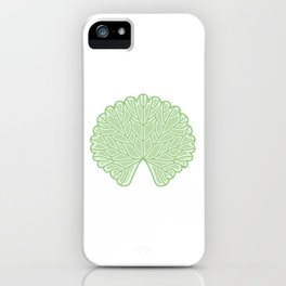 Symmetric Garden Geranium Leaf Illustration iPhone Case