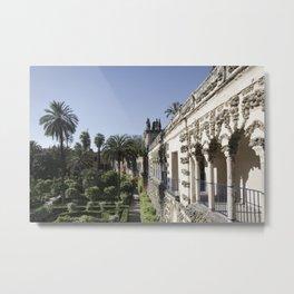Royal Garden View - Alcazar of Seville Metal Print