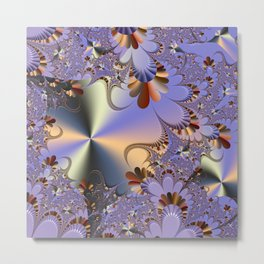 Metallic Shine with Fractals Metal Print