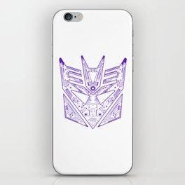 Decepticon Tech Purple iPhone Skin