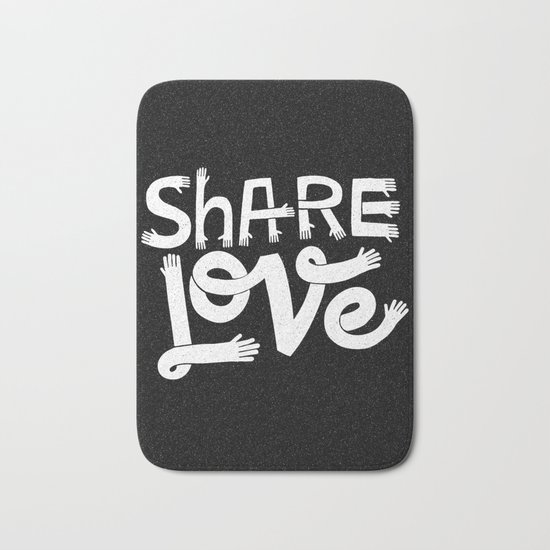 share love Bath Mat