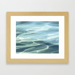 Water abstract H2O # 22 Framed Art Print