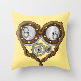 Chemistry of love: dopamine and serotonin formula (Color version) Throw Pillow