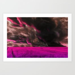 Psychedelic Fuchsia Fields Art Print