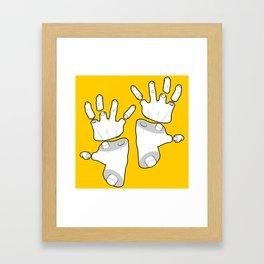 Puzzle Hands Framed Art Print