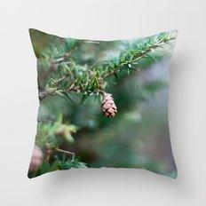 Tiny Pine Cone Throw Pillow